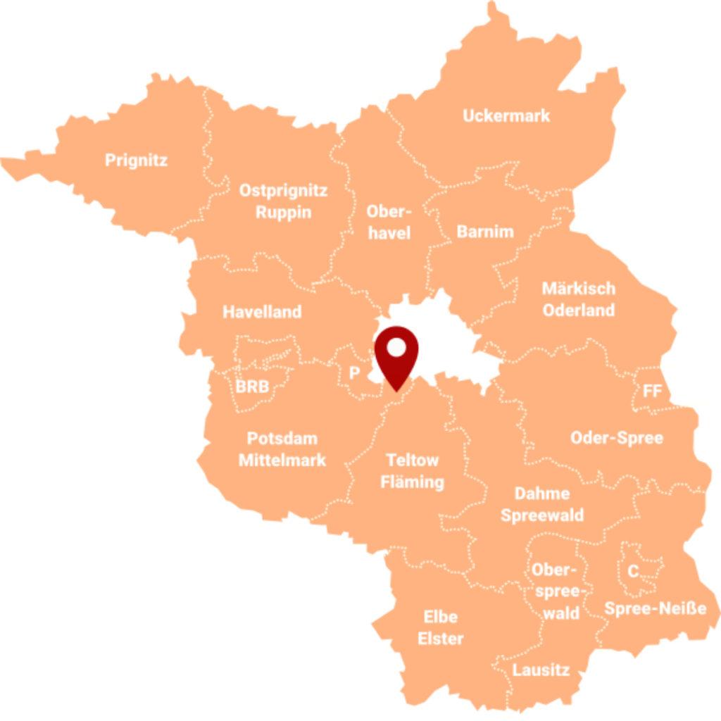 Makler Wilhelmshorst - Karte