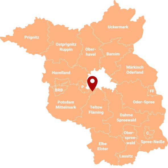 Makler Kähnsdorf: Karte