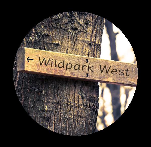 Makler Wildpark-West: Wegweiser