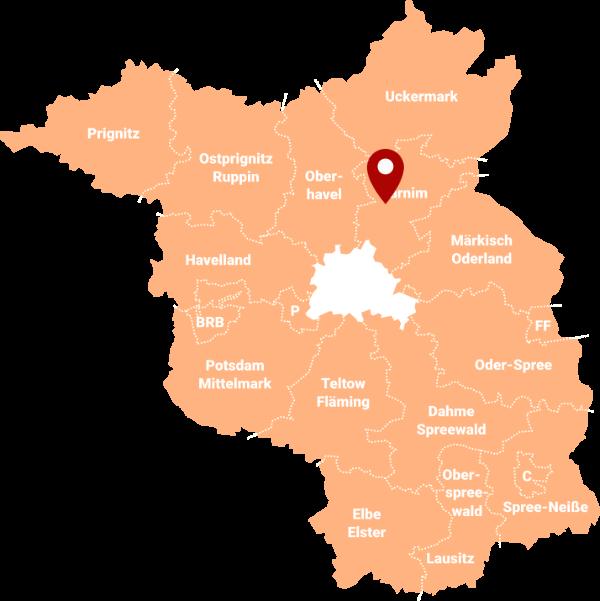 Makler Marienwerder 16348: Karte
