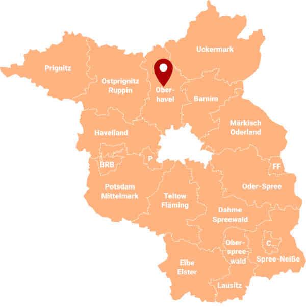 Immobilienmakler Oberhavel OHV - Karte