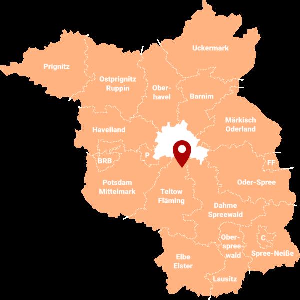 Makler Rangsdorf 15834: Karte