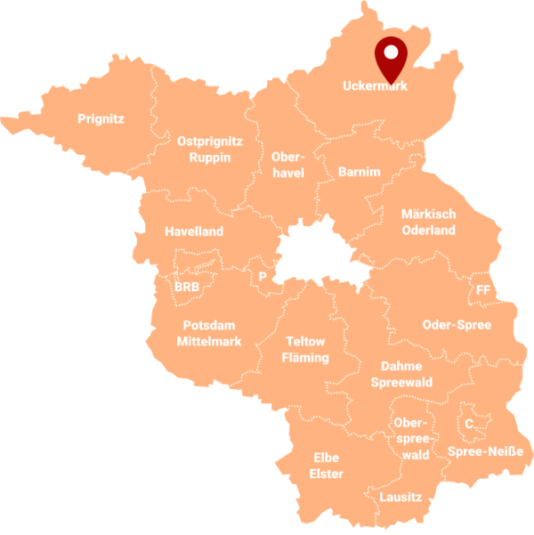 Immobilienmakler Uckermark UM - Karte