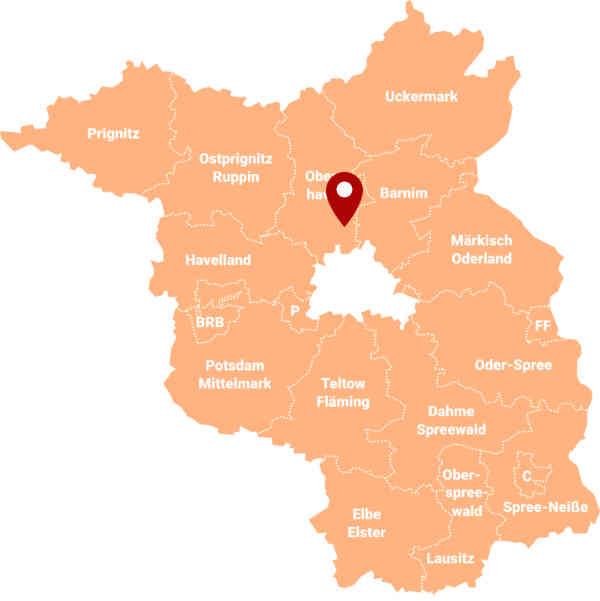 Immobilienmakler Zühlsdorf - Karte
