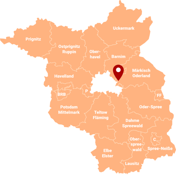 Makler Fredersdorf-Vogelsdorf 15370: Karte