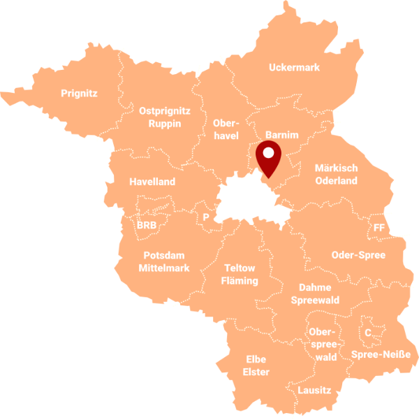 Immobilienmakler für Ahrensfelde 16356: Karte