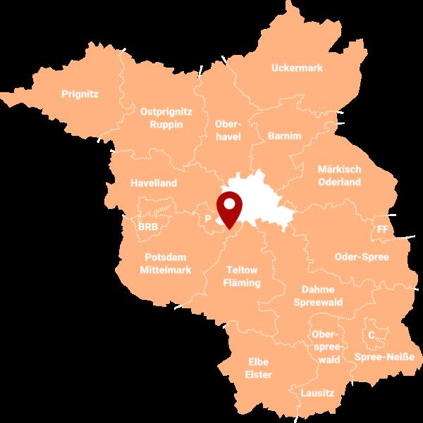 Makler in Bergholz-Rehbrücke 14558: Karte