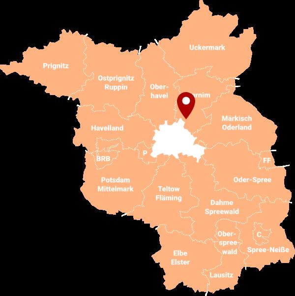 Immobilienmakler Ladeburg (Bernau) 16348: Karte