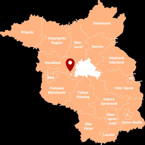 Makler Nedlitz 14469: Karte