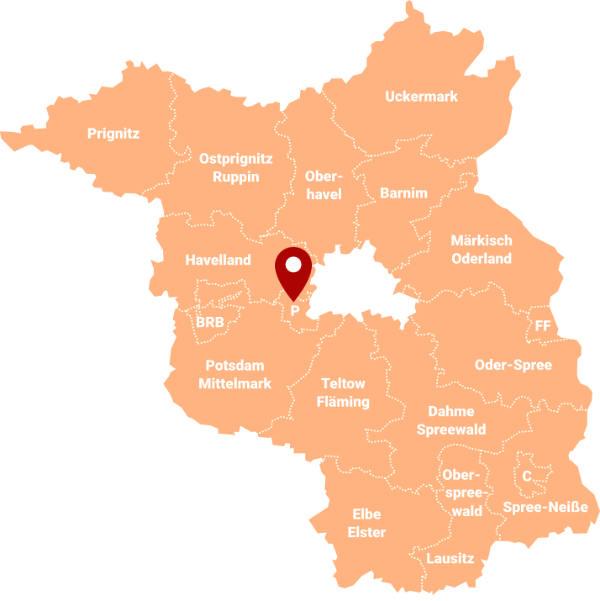 Immobilienmakler Potsdam Südliche Innenstadt - Karte