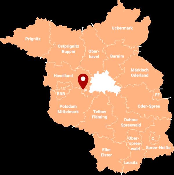 Makler Potsdam-West 14542: Karte