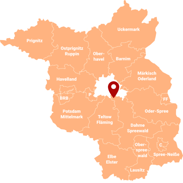 Makler Selchow (Schönefeld) LDS - Karte