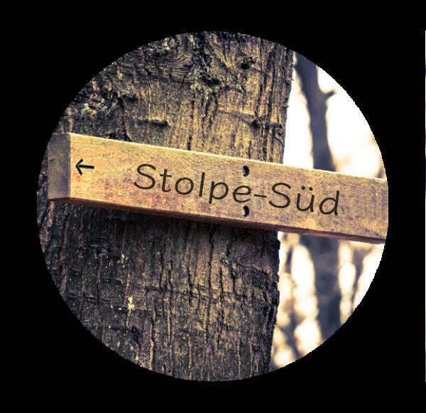 Makler Stolpe-Süd, Ortsteil von Hennigsdorf, Oberhavel: Wegweiser