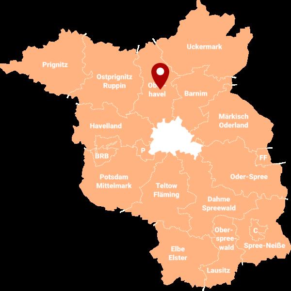 Immobilienmakler Teschendorf, Löwenberger Land (Oberhavel): Karte