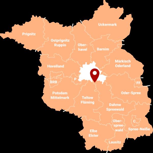 Makler Waltersdorf (Schönefeld) LDS - Karte