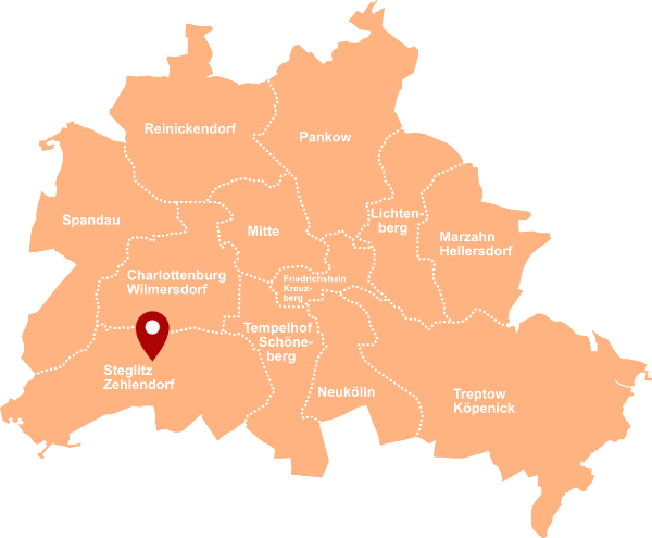 Immobilienmakler Steglitz-Zehlendorf - Karte