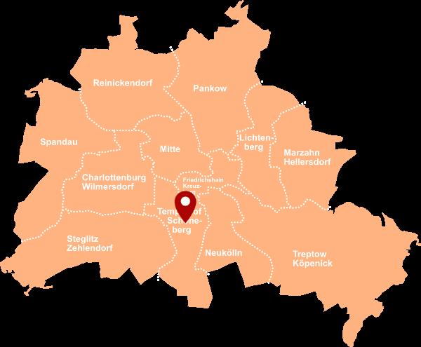 Immobilienmakler Tempelhof-Schöneberg - Karte