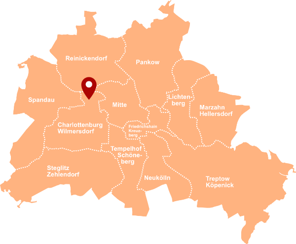 Makler Charlottenburg-Nord: Karte