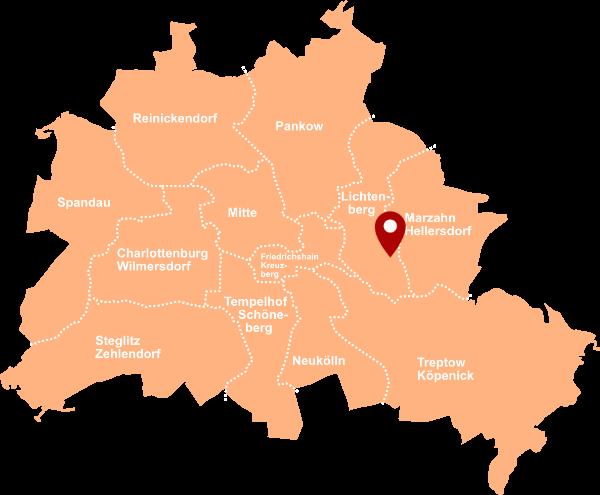 Immobilienmakler Friedrichsfelde, Lichtenberg - Karte