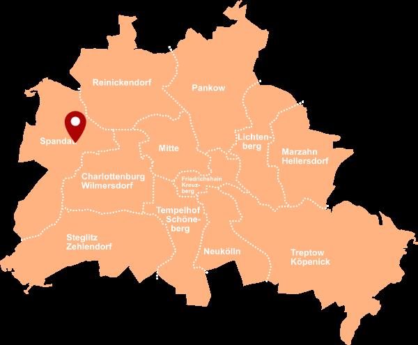 Makler Kolk, Behnitz - Karte Berlin-Spandau