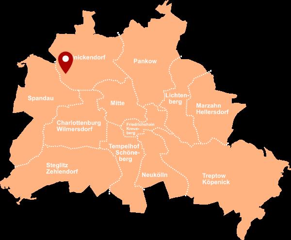 Immobilienmakler Konradshöhe - Karte