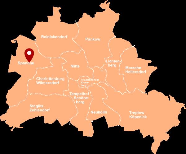Makler Altstadt-Spandau: Karte