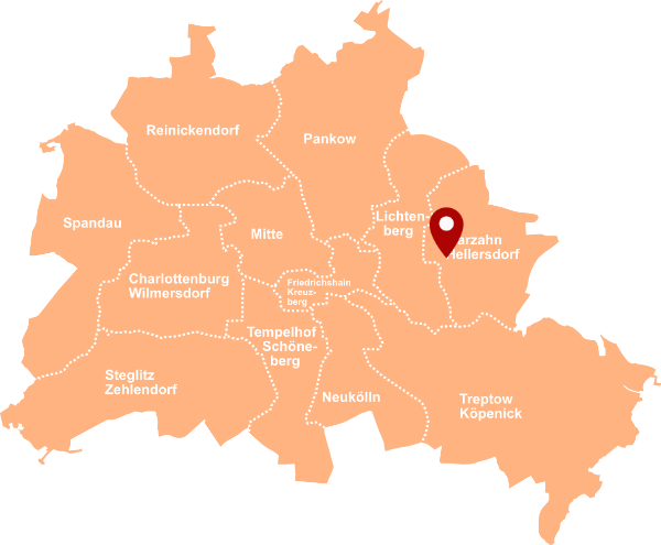 Immobilienmakler Marzahn - Karte