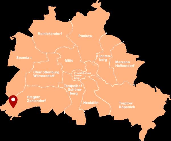 Makler Stolpe 14109: Karte