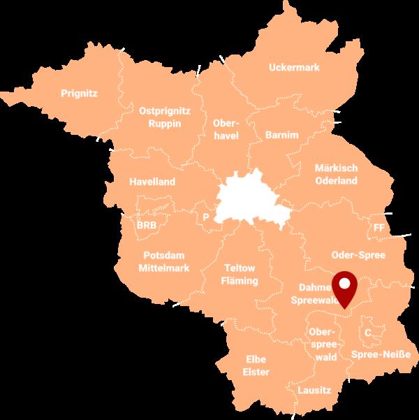 Makler Byhleguhre-Byhlen - Karte