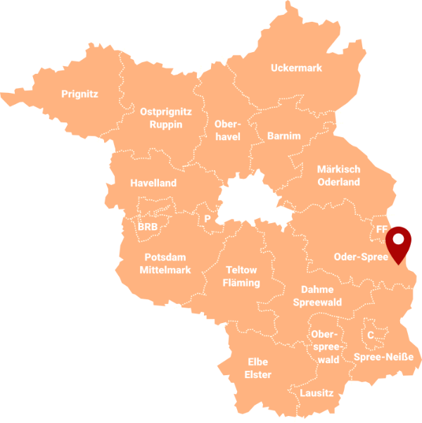 Immobilienmakler Eisenhüttenstadt - Karte