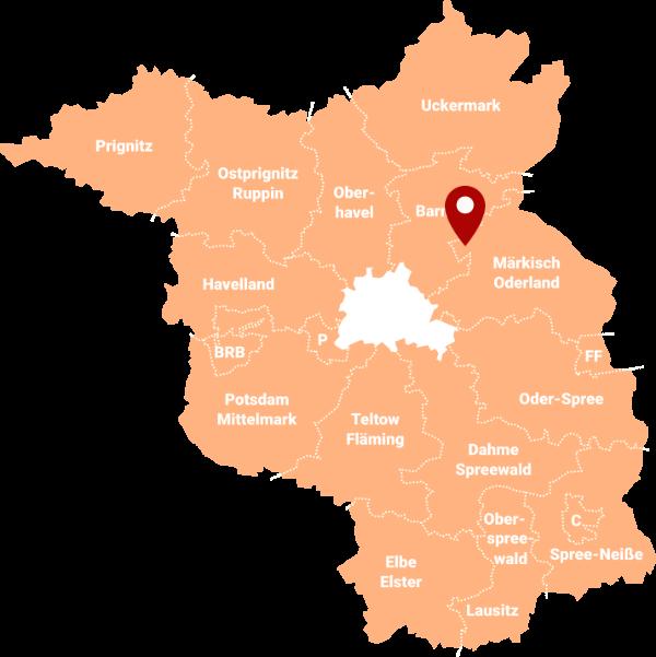 Makler Heckelberg-Brunow 16259: Karte