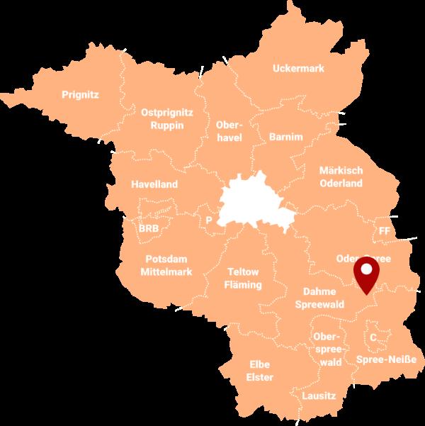 Makler Lieberose - Karte