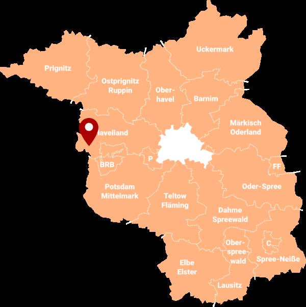 Makler Milower Land 14715: Karte