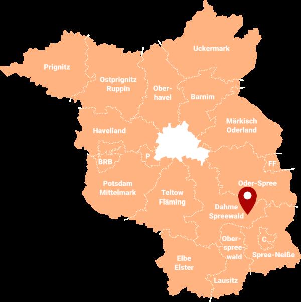 Makler Spreewaldheide - Karte