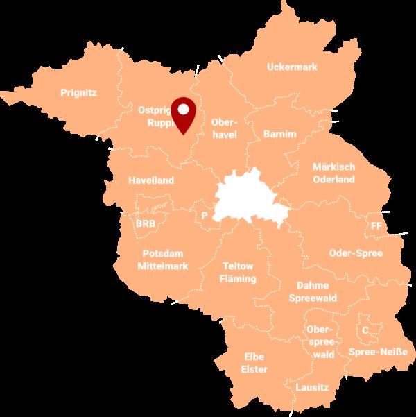 Immobilienmakler Neuruppin - Karte