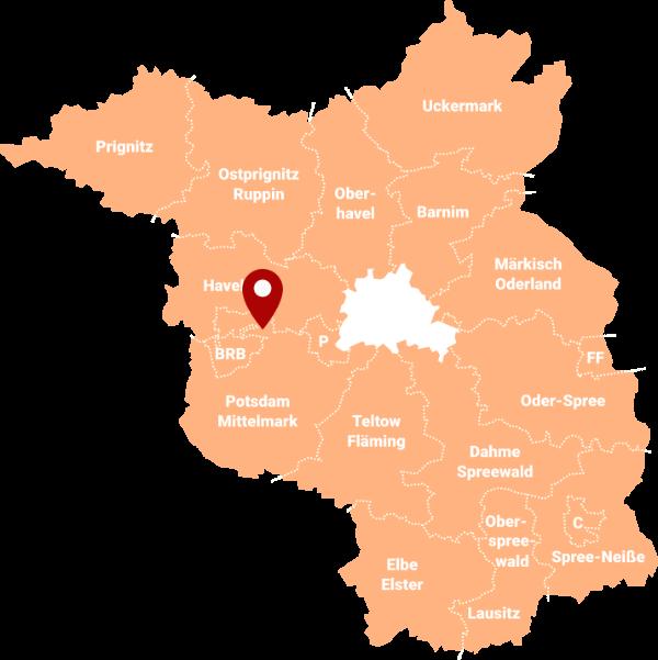 Makler Götz (Groß Kreutz) 14550: Karte